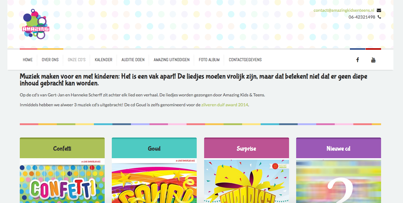 Nieuwe website amazing kids en teens